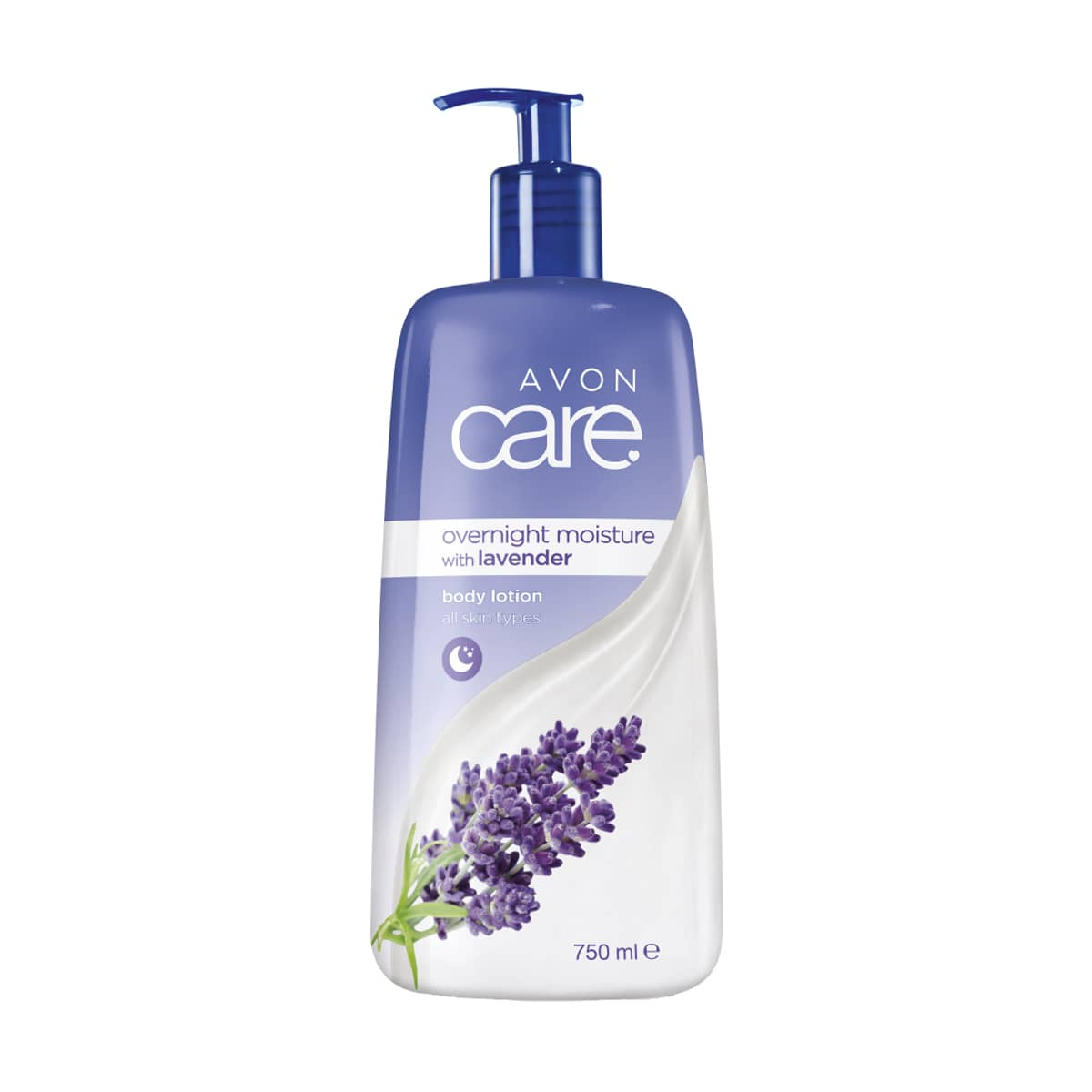 Avon Care Body Lotion 750ml Overnight Moisturising with Lavender 1374136