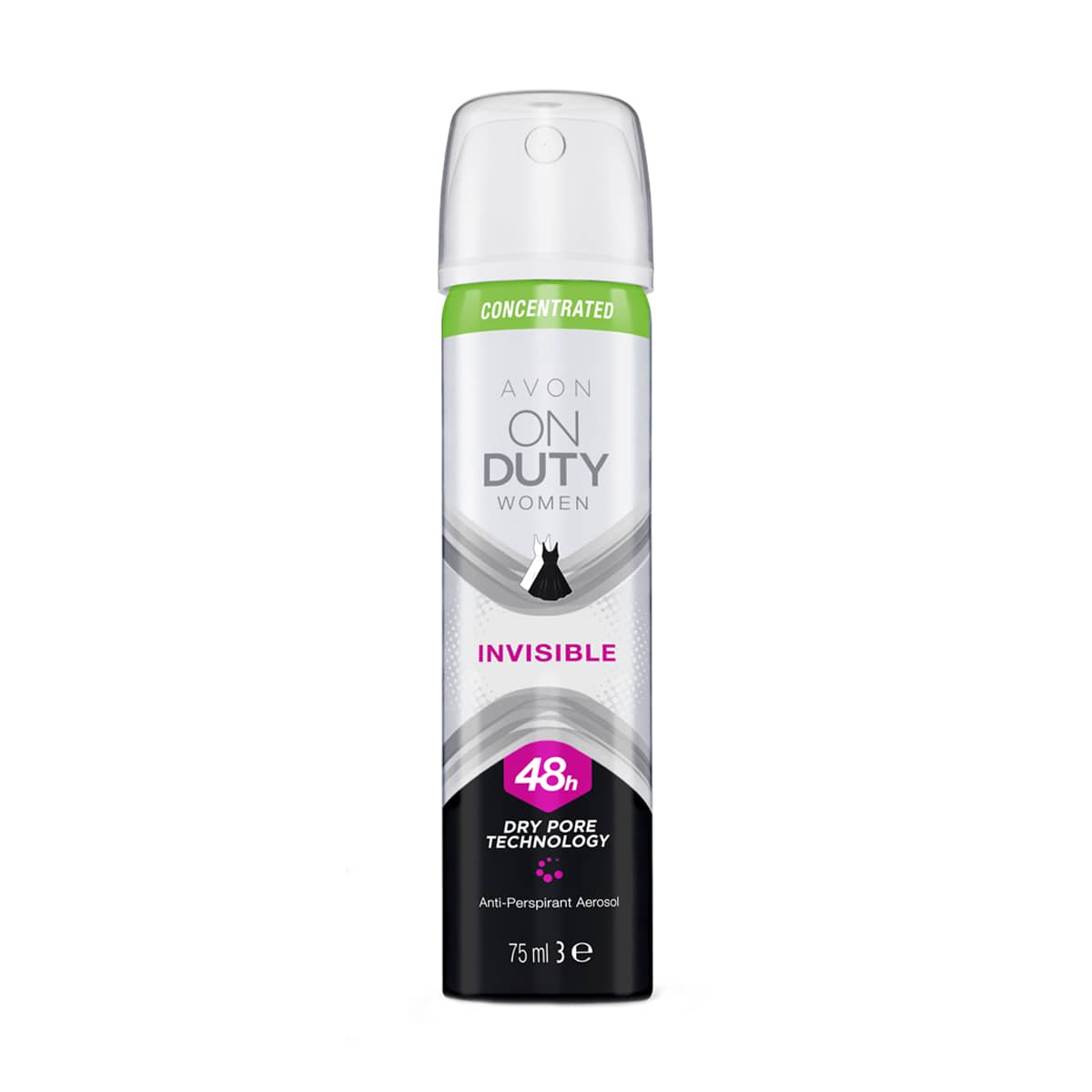 On Duty Invisible Anti-Perspirant Aerosol Compressed for Her 1338881 75ml